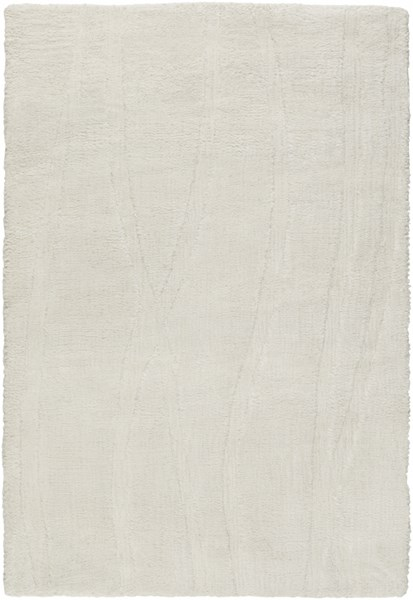 Wave Contemporary Ivory Acrylic Fabric Area Rug (L 36 X W 24) WVE1003-23