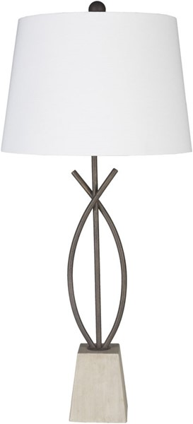 Surya Wyatt White Metal Table Lamp - 16x35.50 WYT-001