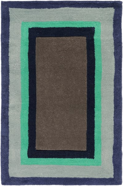 Young Life Light Gray Olive Green Cobalt Polyester Kids Rug - 24 x 36 YGL7000-23