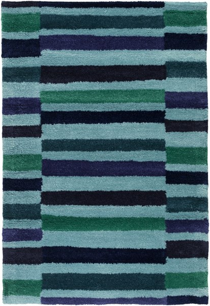 Young Life Green Teal Navy Polyester Kids Rug - 24 x 36 1924-VAR1