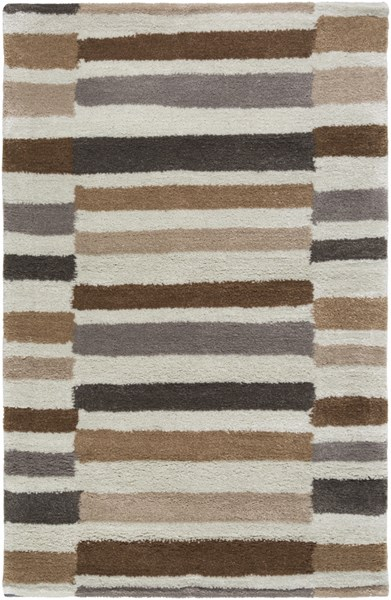 Young Life Gray Olive Ivory Chocolate Polyester Kids Rug - 24 x 36 YGL7005-23