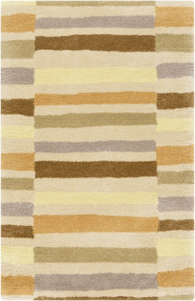 Young Life Beige Butter Taupe Olive Gold Polyester Kids Rug - 24 x 36 YGL7007-23