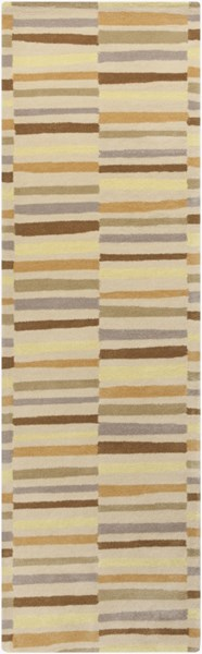 Young Life Beige Butter Taupe Olive Gold Polyester Kids Rug - 30 x 96 YGL7007-268