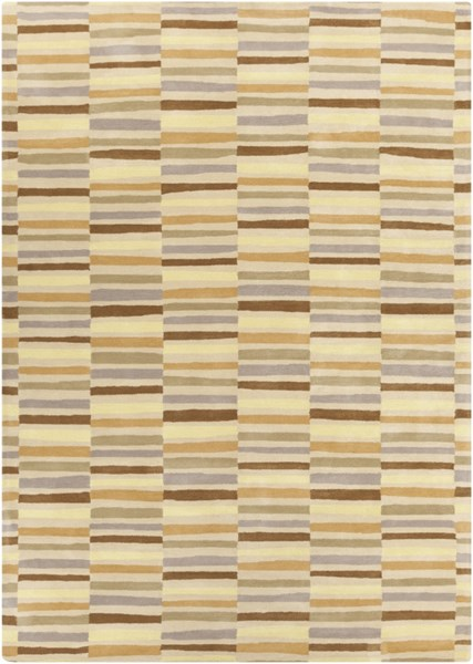 Young Life Beige Butter Taupe Olive Gold Polyester Kids Rug - 96 x 132 YGL7007-811