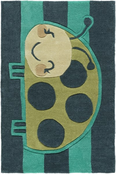 Young Life Teal Green Lime Mocha Polyester Kids Rug - 24 x 36 YGL7010-23