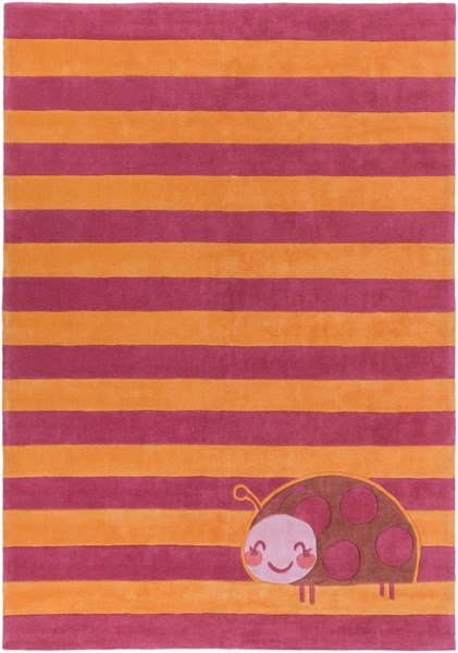 Young Life Hot Pink Lavender Coral Polyester Kids Rug - 96 x 132 YGL7012-811