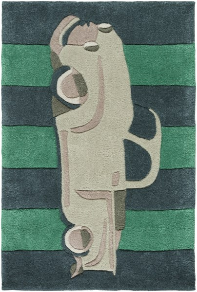 Young Life Beige Teal Green Taupe Polyester Kids Rug - 24 x 36 YGL7014-23
