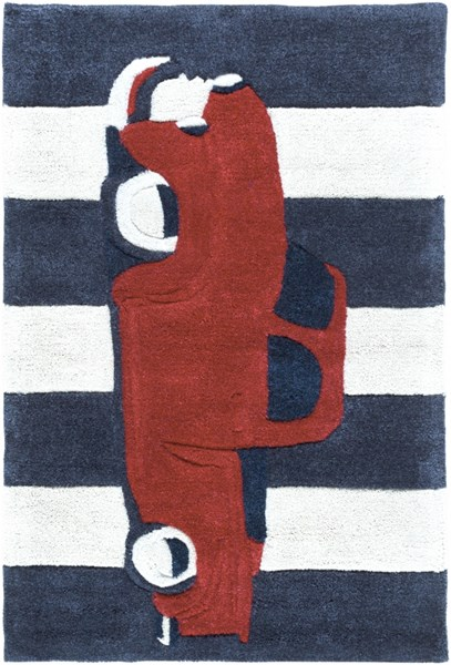 Surya Young Life Navy Bright Red Polyester Area Rug - 36x24 YGL7016-23