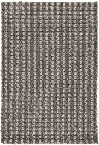 Yukon Contemporary Charcoal Light Gray Fabric Area Rugs 12753-VAR1