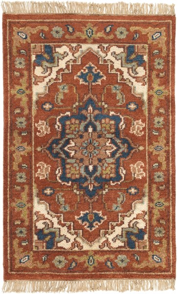 Zeus Traditional Cherry Beige Olive Fabric Area Rugs 1667-VAR1