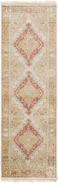 Zeus Rust Taupe Beige New Zealand Wool Runner - 30 x 96 ZEU7819-268