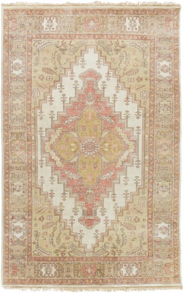 Zeus Rust Taupe Beige New Zealand Wool Area Rug - 66 x 102 ZEU7819-5686