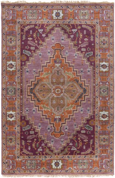 Surya Zeus Eggplant Clay Bright Purple Wool Area Rug - 180x144 ZEU7820-1215
