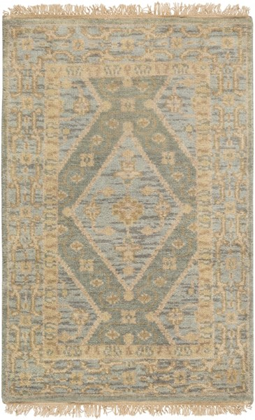 Zeus Traditional Moss Beige Olive Fabric Area Rugs 12623-VAR1