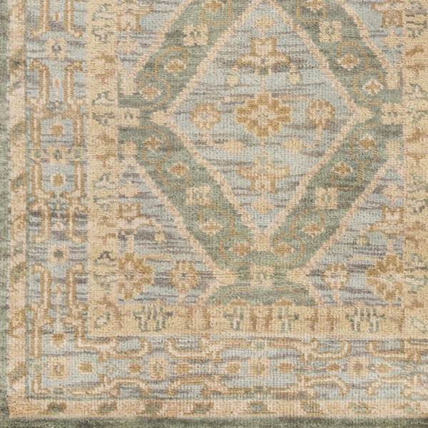 Surya Zeus Sage Denim Khaki Wool Sample Area Rug - 18x18 ZEU7826-1616