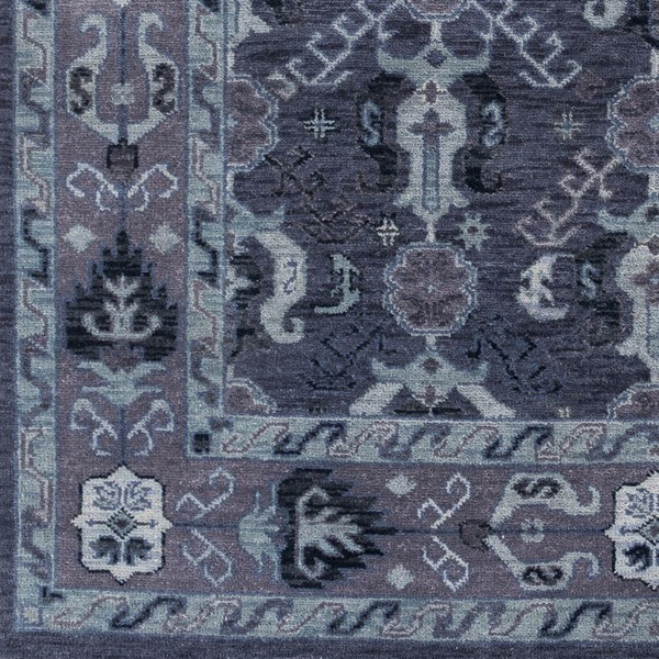 Surya Zeus Navy Dark Purple Aqua Wool Sample Area Rug - 18x18 ZEU7830-1616
