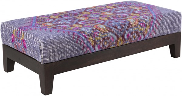Zahara Gold Iris Magenta Wood Fabric Benches 14140-VAR1