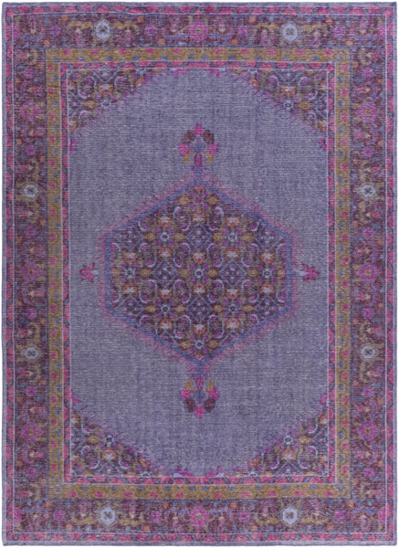 Surya Zahra Dark Purple Fuschia Bright Red Wool Area Rug - 132x96 ZHA4001-811