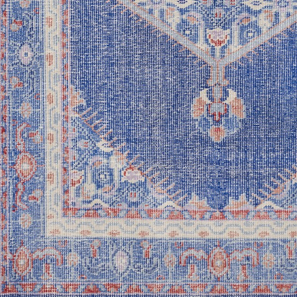 Surya Zahra Dark Blue Bright Red Mauve Wool Sample Area Rug - 18x18 ZHA4003-1616