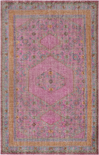 Zahra Magenta Rust Burnt Orange Wool Area Rug - 66 x 102 ZHA4008-5686
