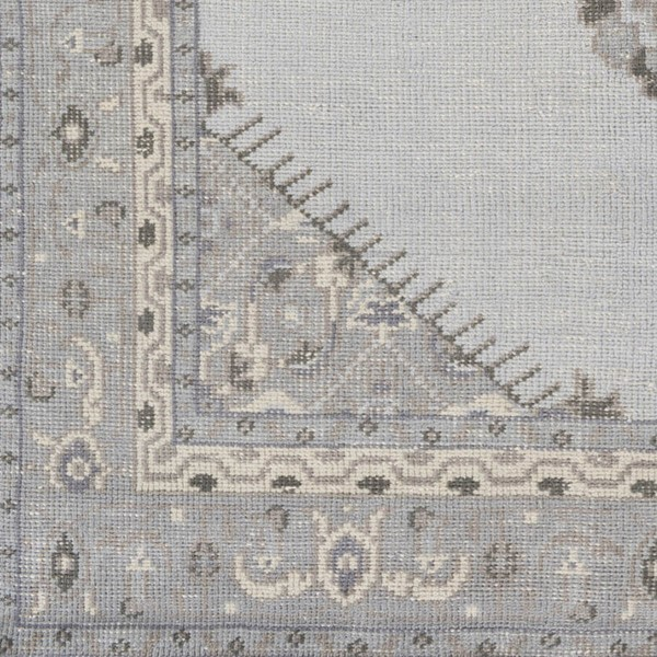 Surya Zahra Light Gray Violet Black Wool Sample Area Rug - 18x18 ZHA4028-1616