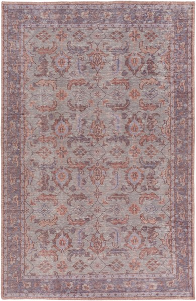 Surya Zahra Mauve Dark Purple Blush Wool Area Rug - 102x66 ZHA4039-5686