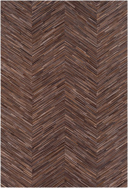 Surya Zander Dark Brown Hair On Hide Area Rug - 36x24 ZND1000-23