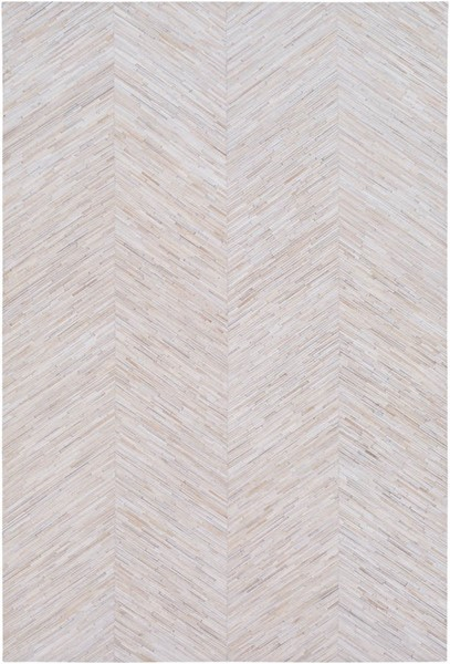 Surya Zander Taupe Tan Cream Hair On Hide Area Rug - 120x96 ZND1001-810