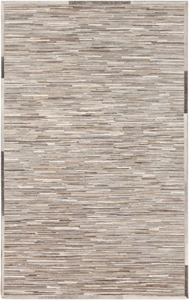 Surya Zander Gray Dark Brown Ivory Hair On Hide Area Rug - 96x60 ZND1005-58