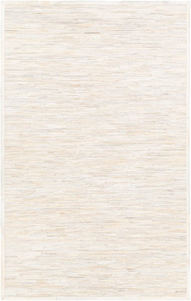 Surya Zander White Cream Beige Hair On Hide Area Rug - 120x96 ZND1006-810