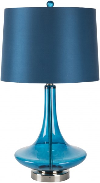 Zoey Transparent Blue Glass Satin Table Lamp ZOLP-001