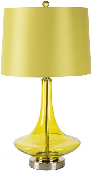 Zoey Transparent Green Glass Satin Table Lamp - 14x25.5 ZOLP-002