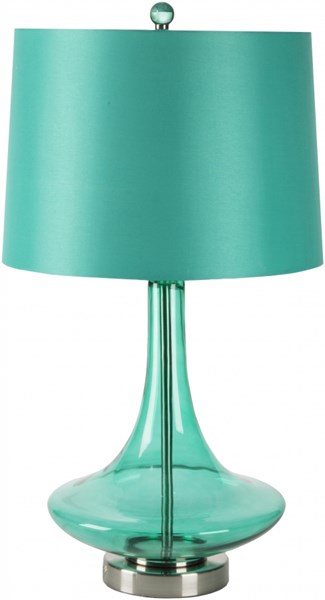 Zoey Transparent Teal Glass Satin Table Lamp - 14x25.5 ZOLP-005