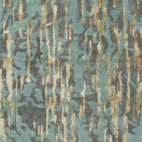 Surya Zephyr Aqua Denim Tan Wool Viscose Jute Sample Area Rug - 18x18 ZPH3000-1616
