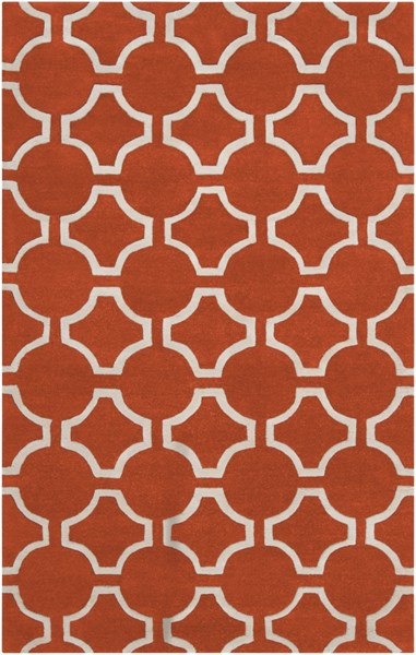 Zuna Poppy Ivory New Zealand Wool Area Rug - 60 x 96 ZUN1041-58
