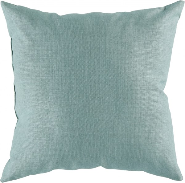 Storm Contemporary Teal Polyester Throw Pillow (L 18 X W 18 X H 4) ZZ404-1818