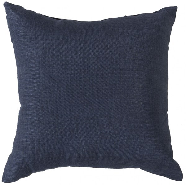 Storm Contemporary Navy Polyester Throw Pillow (L 18 X W 18 X H 4) ZZ405-1818