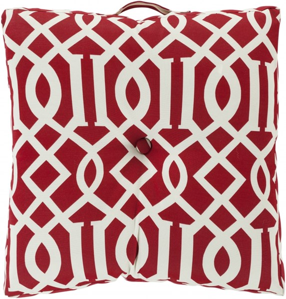 Storm Contemporary Cherry Ivory Polyester Throw Pillow (L 22 X W 22) ZZ416-2222