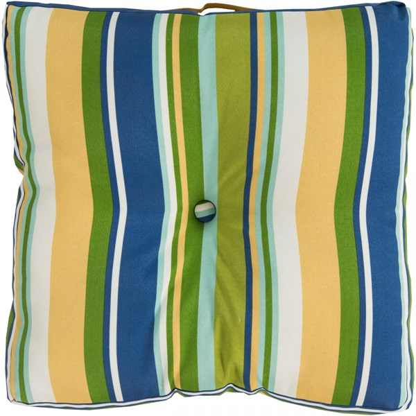 Storm Lime Teal Polyester Throw Pillow (L 22 X W 22 X H 5) ZZ423-2222FC