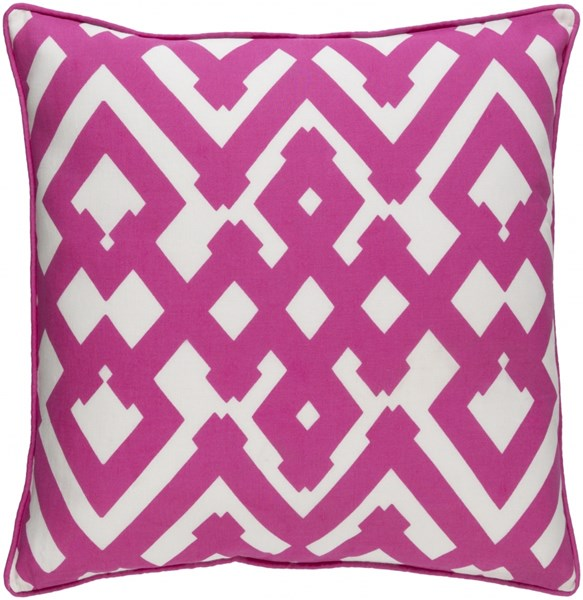 Large Zig Zag Pink Ivory Down Linen Cotton Throw Pillow (L 20 X W 20) ZZG001-2020D