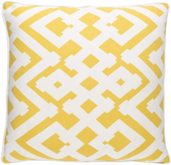Large Zig Zag Ivory Poly Linen Cotton Throw Pillow (L 20 X W 20) ZZG003-2020P