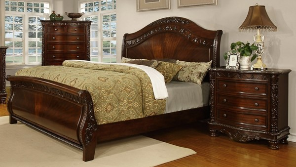 South Sea Patterson Rich Pecan Sleigh 2pc King Bedroom Set SSEA-6535-25-BR-S2