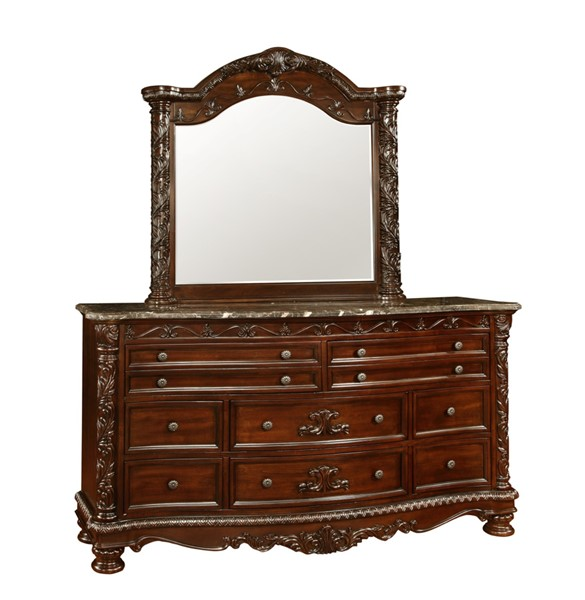 South Sea Patterson Rich Pecan Dresser And Mirror SSEA-6535-10-DRMR