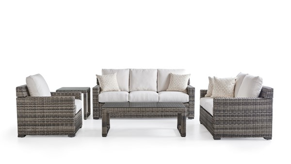 South Sea New Java Taupe Brown 3pc Outdoor Seating Set SSEA-73401-OUTDOOR-LR-S1