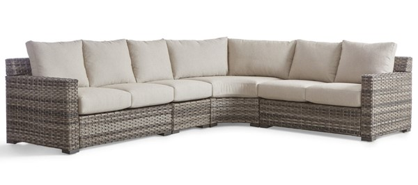 South Sea New Java Taupe Brown Outdoor Sectional SSEA-73453-OUTDOOR-SEC