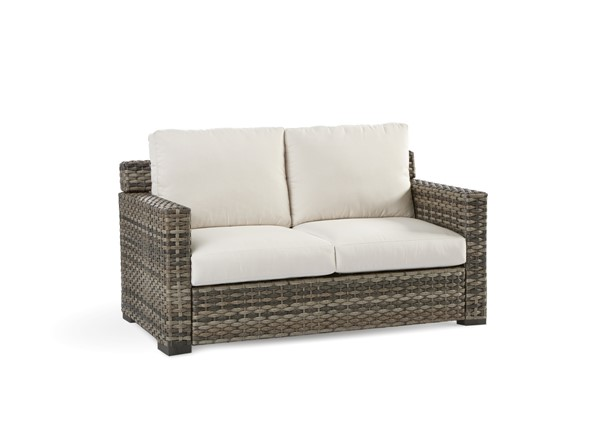 South Sea New Java Taupe Brown Patio Cushion Loveseat SSEA-73402-D33011-2
