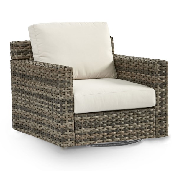 South Sea New Java Taupe Brown Patio Cushion Swivel Glider SSEA-73405-D33011-2