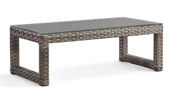 South Sea New Java Taupe Patio Rectangle Coffee Table SSEA-73444