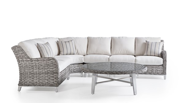 South Sea Grand Isle Gray Canvas Outdoor Sectional SSEA-77452-SGR-D6311-OUTDOOR-SEC