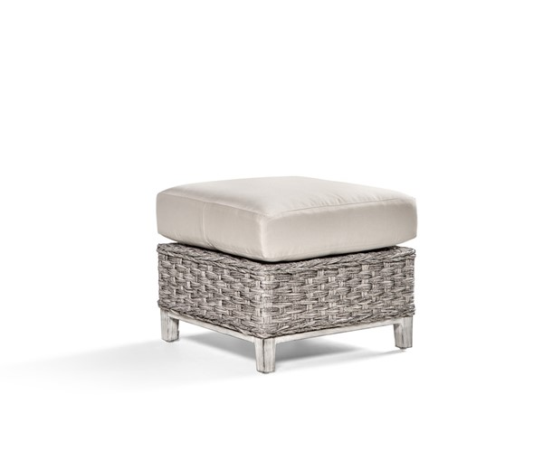 South Sea Grand Isle Gray Canvas Ottoman SSEA-77406-SGR-D6311